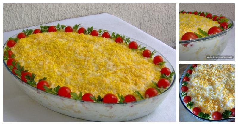 Prelijepa hladna salata - MIMOZA SALATA