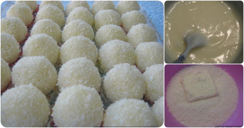 Za sve ljubitelje kokosa (a tu spadam i ja :) Super brz lagan i ukusan desertić. Kokos bombice